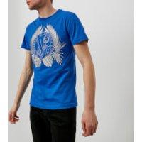 Versace Jeans Mens Large Wreath T-Shirt - Cobalt - L - Blue