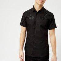 Versace Jeans Men's Shoulder Detail Short Sleeve Shirt - Nero - M - Black