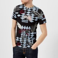 Versace Jeans Men's All Over Pattern T-Shirt - Nero - M - Black