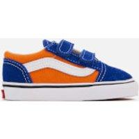 Vans Toddlers Pop Velcro Old Skool Trainers - Og Blue/Og Gold - UK 4 Toddlers - Blue