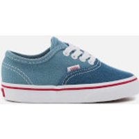 Vans Toddlers' 2 Tone Denim Authentic Trainers - Blue/True White - UK 9 Toddlers - Blue