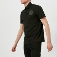 Versace Collection Mens Round Logo Polo Shirt - Nero - L - Black