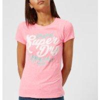 Superdry Women's New Original Entry T-Shirt - Fluro Pink Snowy - UK 10 - Pink