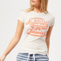 Superdry Womens Icarus Duo Entry T-Shirt - Grey Marl Nep - UK 12 - Grey