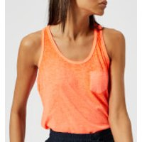 Superdry Womens Burnout Pocket Vest - Neon Coral - UK 12 - Orange