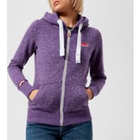 Superdry Womens Orange Label Primary Zip Hoody - Gumball Purple Snowy - UK 10 - Purple