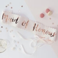 Ginger Ray Maid of Honour Sash - Pink/Rose Gold - Maid Of Honour Gifts