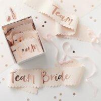 Ginger Ray Team Bride Sash - Pink/Rose Gold (6 Pack)