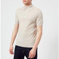 John Smedley Mens Roth 30 Gauge Sea Island Cotton Polo Shirt - Brunel Beige - M - Beige
