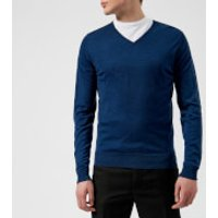 John Smedley Men's Blenheim 30 Gauge Extra Fine V-Neck Jumper - Indigo - XL - Blue