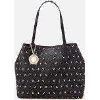 Versace Jeans Womens Embellished Shopper Bag - Black