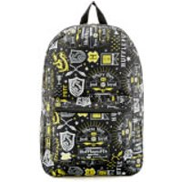 Harry Potter Hufflepuff Icon Sublimated Backpack - Black - Harry Potter Gifts