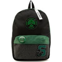 Harry Potter Slytherin House Backpack with Patches - Black - Harry Potter Gifts