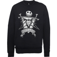 Disney The Nightmare Before Christmas Jack Skellington Misfit Love Black Sweatshirt - XXL - Black
