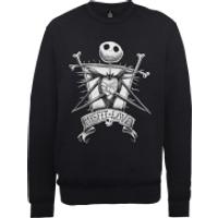 Disney The Nightmare Before Christmas Jack Skellington Misfit Love Black Sweatshirt - XXL - Black