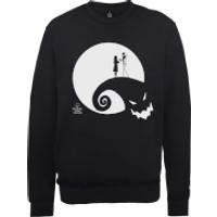 The Nightmare Before Christmas Jack And Sally Moon Black Sweatshirt - M - Black