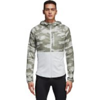 adidas Mens Ultra Graphic Running Jacket - White/Cargo - M - White/Cargo