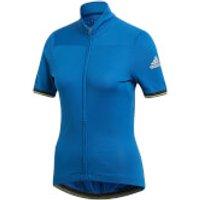 adidas Women's Climachill Jersey - Royal Blue - L - Royal Blue