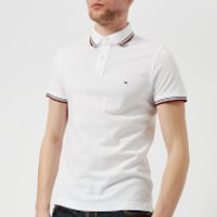 Tommy Hilfiger Mens Tommy Tipped Slim Polo Shirt - Bright White - M - White