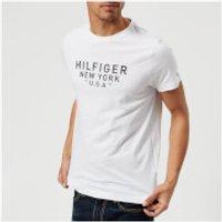 Tommy Hilfiger Men's Benton Crew Neck Short Sleeve T-Shirt - Bright White - XXL - White