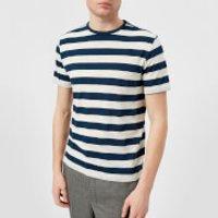 Officine Generale Men's Overdye Stripe T-Shirt - Aegean Blue - S - Blue