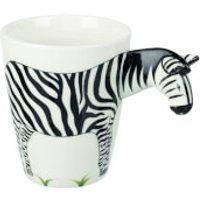 Parlane Zebra Mug - White/Black - Zebra Gifts