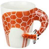 Parlane Giraffe Mug - White/Orange - Giraffe Gifts