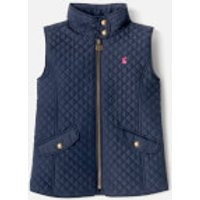 Joules Girls' Silvan Quilted Gilet - French Navy - 7-8 Years - Navy