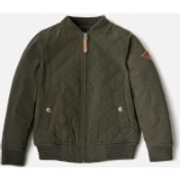 Joules Boys' Halton Bomber Jacket - Khaki - 6 Years - Green