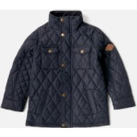 Joules Boys' Stafford Quilted Jacket - Marine Navy - 6 Years - Navy