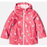 Joules Girls Raindance Waterproof Coat - Bright Pink Festival - 6 Years - Pink