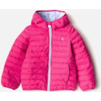 Joules Girls Kinnaird Packaway Coat - Bright Pink - 2 Years - Pink