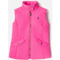 Joules Girls' Silvan Quilted Gilet - Bright Pink - 7-8 Years - Pink