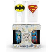 DC Comics Batman and Superman Large Glasses Twin Pack - Superman Gifts