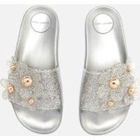 Marc-Jacobs-Womens-Daisy-Aqua-Slide-Sandals-Silver-EU-38UK-5-Silver