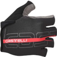 Castelli Tempo Gloves - Black/Red - S - Black/Red