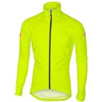 Castelli Emergency Rain Jacket - Black - M - Yellow Fluo