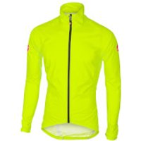 Castelli Emergency Rain Jacket - Black - XL - Yellow Fluo