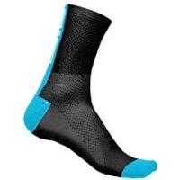 Castelli Distanza 9 Socks - Black/Sky Blue - XXL - Black/Sky Blue