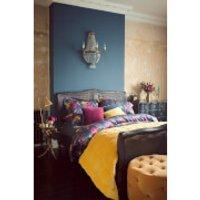 Christy Anya Duvet Cover Set - Deep Blue - Single - Blue