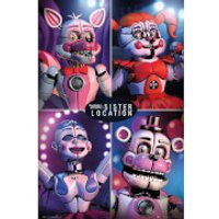 Five Nights at Freddy's Sister Location Quad Maxi Poster 61 x 91.5cm - Sister Gifts