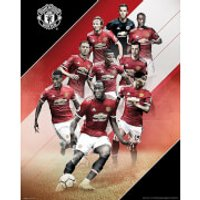 Manchester United Players 17/18 Mini Poster 40 x 50cm - Manchester United Gifts