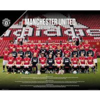 Manchester United Team Photo 17/18 Mini Poster 40 x 50cm - Manchester United Gifts