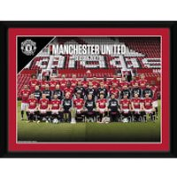 Manchester United Team 17/18 Framed Photograph 8 x 6 Inch - Manchester United Gifts