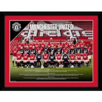 Manchester United Team 17/18 Framed Photograph 12 x 16 Inch - Manchester United Gifts