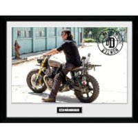The Walking Dead Daryl Bike Framed Photograph 12 x 16 Inch - The Walking Dead Gifts