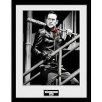 The Walking Dead Negan Stairs Framed Photograph 12 x 16 Inch - The Walking Dead Gifts