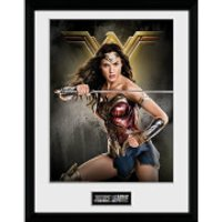 Justice League Wonder Woman Solo Framed Photograph 12 x 16 Inch - Wonder Woman Gifts