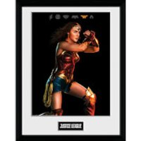 Justice League Movie Wonder Woman Framed Photograph 12 x 16 Inch - Wonder Woman Gifts