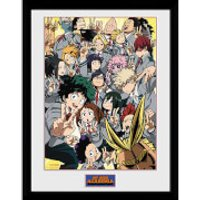 My Hero Academia School Group Framed Photograph 12 x 16 Inch - School Gifts